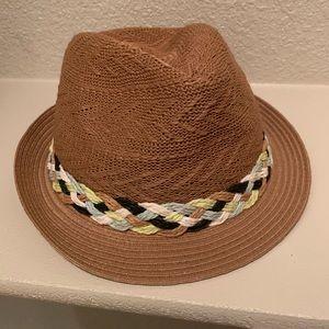 Saks fedora braided hat